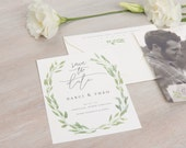 The Eucalyptus Wedding Collection by Paper Daisies, Save the Dates, Whimsical, SAMPLE SET