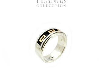 Ring gold 14kt yellow silver.925 #BA - 149