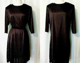 Anthony Richards Black Textured Shift Dress