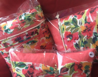 Summer floral cushion set