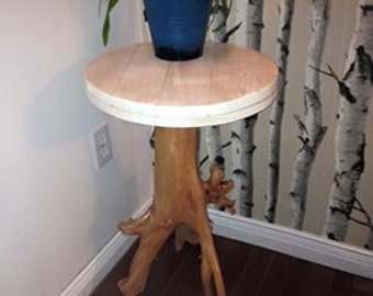 strain of driftwood side table