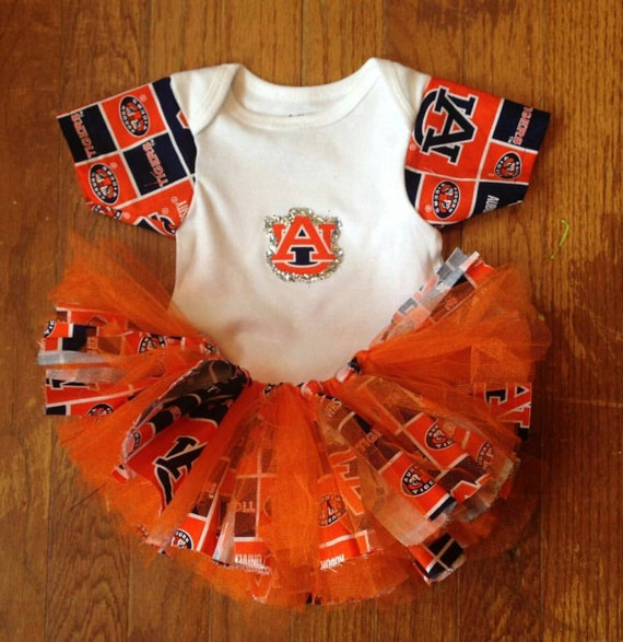 Sports Themed Tutu Set, Auburn Tutu Set, Unique Tutu Set, Birthday Tutu.