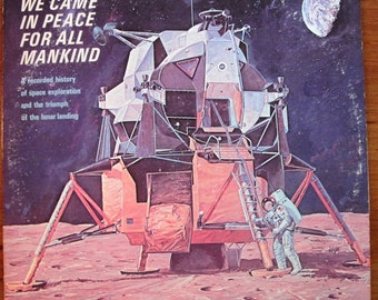 spaceSpace Travel.. we came in peace for all Mankind LP record NASA.Apollo 11