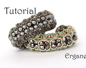Sparkle Evening Bracelet Tutorial, Bracelet Beading Tutorial, Beaded Jewelry, Beading Pattern,  Ergane Beading