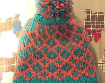 Patterned Knit Hat