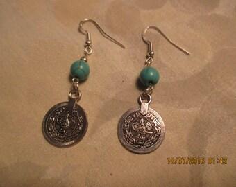 Ladies coin  earrings