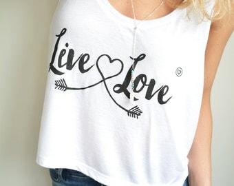 Live & Love-Flowing tank top (incl. free top-story)-Yoga-Yoga Tank-Top Yoga-Yoga clothing-Eco Friendly-Shirt
