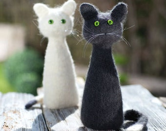 felted cat to set up to use as gift souvenirs, work, also features a bottle neck will be placed.