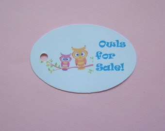 Custom Designed Full Color Printed Logo Price Sizing Style Option Product Boutique Tags Quantity of 75