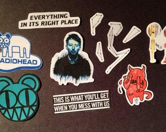 Radiohead Sticker Set