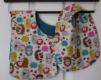 Happy Hedgehog Bib & Burp Set