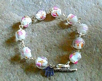 Handmade Lampwork bead bracelet