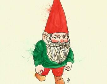 Gnome Illustration Etsy