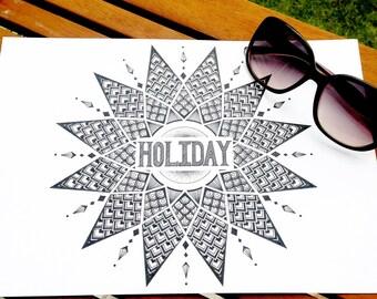 Holiday Mandala Print