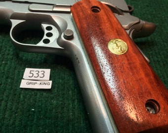 Colt 1911 full size grip, rosewood with Colt medallions 3 1/16 apart hole distance, overstock sale !  outlet item # 533