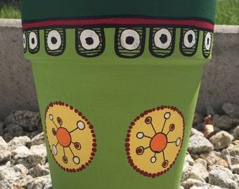 Flower pot planter hand made-Schöne & original, each is unique!
