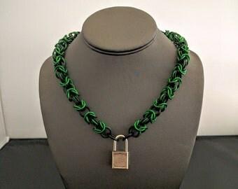 Black and Green Aluminum Pinch Collar