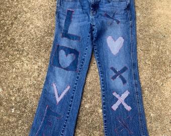 Love Sewn Blue Jeans