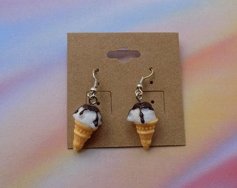 Ice cream earrings/ ice cream jewlery/ kawaii/food jewelry/ earrings, ice cream/ fake food jewlery/ miniature food jewelry
