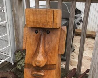 HandCarved  tiki statue