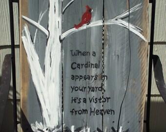 Cardinal Visiting