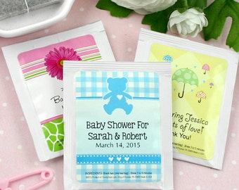 Baby is Brewing, Baby Shower Favor Tea, Elephant Favors, Boy Baby Shower Favors, Baby Shower Favors Girl, Personalized Favors, Set of 30