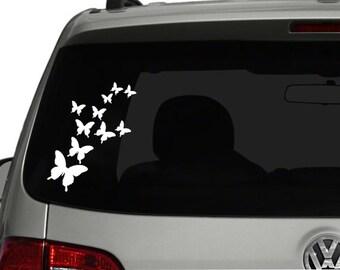 Fluttering Butterfly Decal - Vinyl Sticker, Vinyl Decal - Car Decal, Laptop Sticker, Window or Bumper Sticker