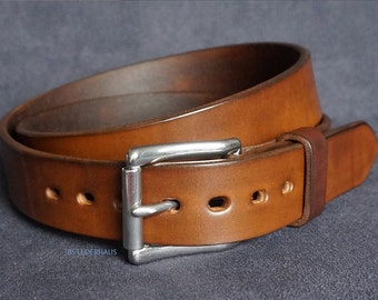 Handmade leather belts - 32 mm