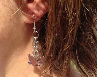 Silver butterflies