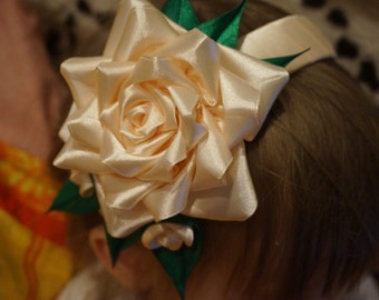 "headband  ""delicate rose"" ободок ""Нежная роза"" handmade"