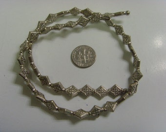 40 silver flat floral cross beads 9 mm christian catholic faith crafts sca e1114