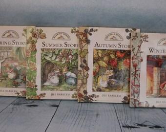 4 vintage four season Brambly Hedge HB books 1995 by Jill Barklem