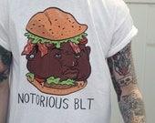 Notorious BLT Shirt - PUN PANTRY food, sandwich, blt, rap, hiphop, 90s, funny, humor, pun, joke, music, hipster, t-shirt, tee, brooklyn, nyc