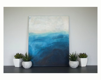 Abstract Wave Painting - Cottage and lake art - By Lexie Franzen