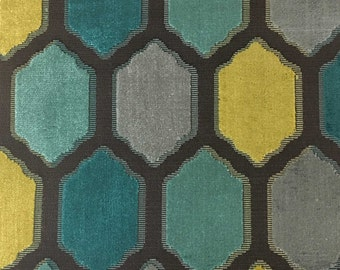 Upholstery Fabric - Seymour - Laguna - Honeycomb Cut Velvet Home Decor Upholstery & Drapery Fabric by the Yard - Available in 10 Colors