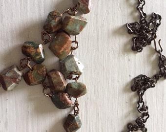 Desert Green Jasper necklace