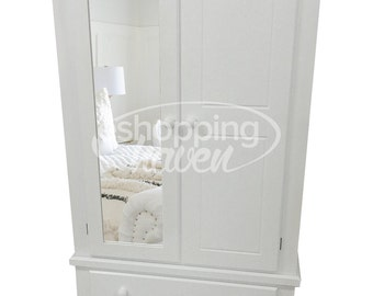 Hand Made Sandra 2 Door Gents With 2 Drawers In White (Assembled)