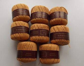 Ochre yarn, cotton yarn, yellow yarn, mustard yarn, DK yarn, yarn lot, cheap yarn, knitting yarn, crochet yarn, Markoma Robusta, worsted