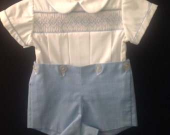 Little Boy Blue -romper: Size 6m