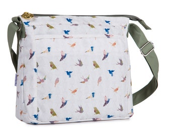 TaylorHe Shoulder Bag Handbag Cross Body Bag Beautiful Birds.