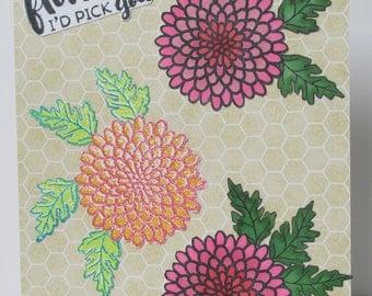 Floral greetings card