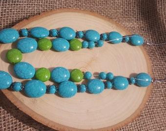 Double Blue Necklace