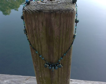 Handcrafted artisan beaded necklace