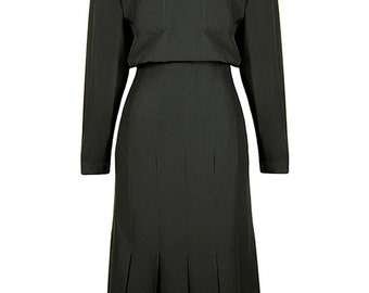 Chanel Black Silk Dress