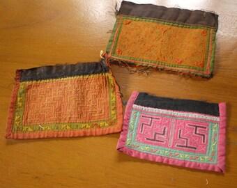 Hmong stitched textile - Vintage textile patches