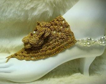 Barefoot Sandals Wedding Sandal in Gold