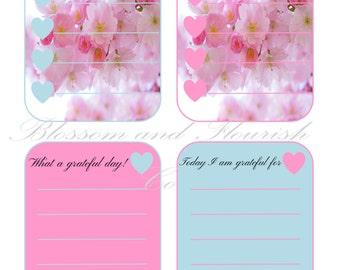 J'adore cherry blossoms gratitude cards| Instant download