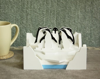 Penguins - Napkin Holder