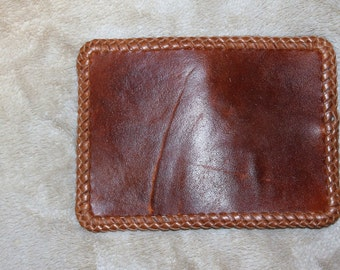Distressed (looking ) Walnut Wallet