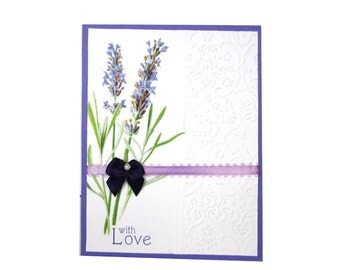 With Love handmade greeting card